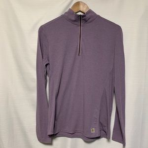 Carhartt 1/4 zip long sleeve t-shirt size small
